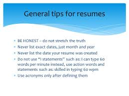 words not to use on a resumes resumes a personal summary of ones background experience and
