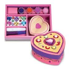 Melissa And Doug Decorate Your Own Jewelry Box Amazon Melissa Doug DecorateYourOwn Wooden Heart Box 30