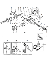 1997 dodge ram 1500 axle rear with differential parts thumbnail 3