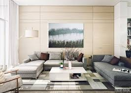 C Contemporary Living Room Or Modern With Grey Sofa And White  Coffee Table Also Rug For Small