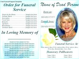 Microsoft Publisher Program Template Funeral Service Template Word Free Editable Program