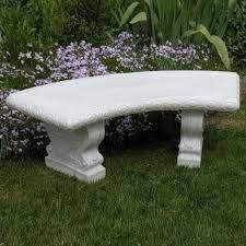 white resin garden bench diamond