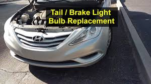 2012 Hyundai Sonata Rear Brake Light Tail And Brake Light Bulb Replacement Hyundai Sonata Votd