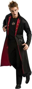 Adult Vampire Coat Costume Mens Vampire Costume, Dracula Costume, Demon  Costume, Halloween Fancy