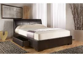 kaydian kenton 5ft king size brown leather bed draws not included