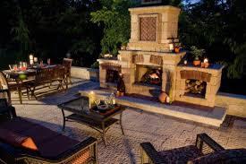 outdoor fireplace paver patio: stonehenge paver patio with outdoor fireplace by unilock