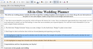 wedding spreadsheet free wedding organization tool from google docs simply beginning