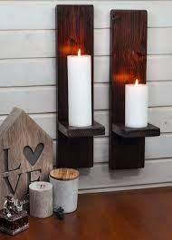 pair rustic candle holder or wall