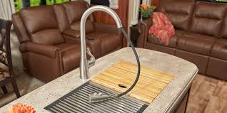 strong stylish sink strong the eagle fifth wheel s dynamic kitchen includes