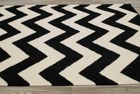 black and white chevron runner rug