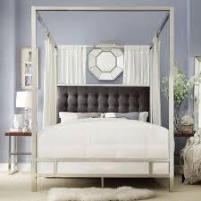 HomeSullivan Taraval Chrome King Canopy Bed-40E739BK-1DGLCPY - The ...