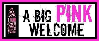 A Big Pink Welcome Grishams Glass