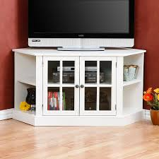 Glass Door Cabinet White Media Cabinet With Glass Doors Best Home Furniture Decoration