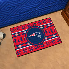 nfl new england patriots holiday sweater starter rug 19 x30 contemporary novelty rugs by fanmats