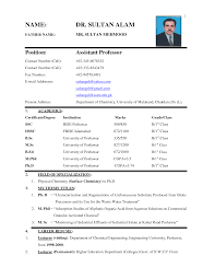 Chic Sample Resume Format For Job Pdf In Cv Resume Biodata Samples