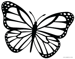 Butterflies Coloring Pages For Adults Printable Butterfly Pdf