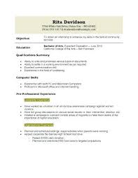 Resume Example Resume Template For High School Graduate Resume
