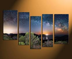 5 piece canvas photography home decor scenery large pictures blue wall art  on huge wall art pieces with 5 piece canvas art prints blue canvas wall art stars huge canvas
