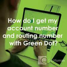 routing number with green dot