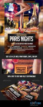 Paris Nights Party Flyer Template 8545355 Uxfree Com