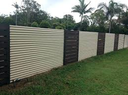 corrugated steel fence corrugated metal fence wood and create a very eye with panels idea 5