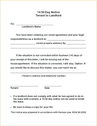 30 day notice to landlord form tenant notice to vacate template