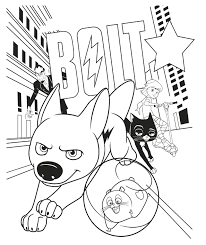 Small Picture Enjoy this Bolt colouring in page in preparation for the 4pm movie