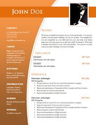 Lovely Free Word Resume Template 2015 For Your Modern Templates