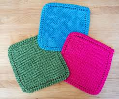Knit Dishcloth Pattern Easy