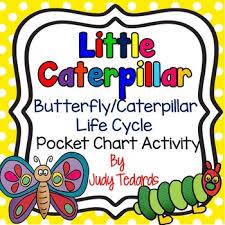 Little Caterpillar A Butterfly Caterpillar Life Cycle Pocket Chart Activity