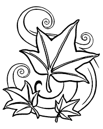 Small Picture Autumn Coloring pages Autumn leaves DIBUJOS Pinterest Free