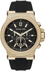 men s michael kors dylan crystallized watch mk8556