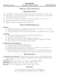 Cook Resume Examples Sample Cook Resume Line Cook Cover Letter Cooks