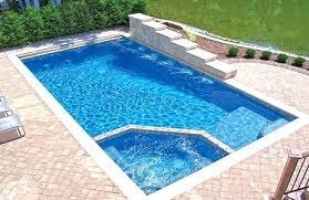 Inground Hot Tub Round Hot Tub Installed Inground Pool With Hot Tub