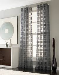 Modern Curtains For Living Room If We Add Curtains To Any Windows Othello Modern Geometric
