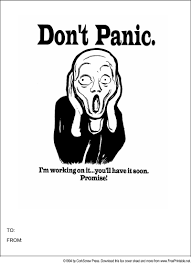 Don't Panic Fax Cover Sheet