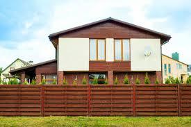 wood fence backyard. Large House With Wooden Horizon Brown Fence Wood Backyard I