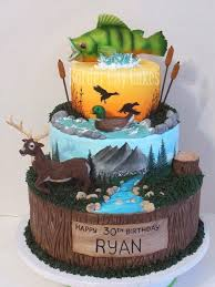 10 Outdoor Boys Birthday Cakes Photo Hunting And Fishing Cake