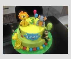 3d Tiered Jungle Cake At Rs 2400 Piece Cream Cake Id 16337828888