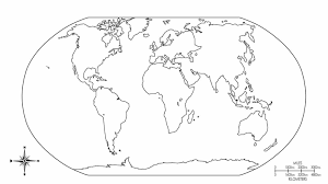 Small Picture World Map Coloring Page With Countries Coloring234