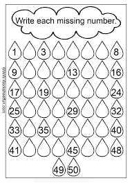Fill-in the Missing Numbers Worksheet - sub folder?: | Baby ...