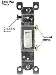replacing single pole switches how to install a switch or A Single Pole Switch Wiring single pole switch enlarge image single pole switch wiring