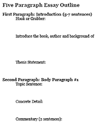 Outline For Five Paragraph Essay Four Paragraph Essay Outline Freeology
