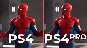 4k marvel s spider man ps4 vs ps4 pro graphics comparison ps4 frame rate test