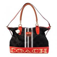 Coach Braided In Signature Large Black Totes BFQ