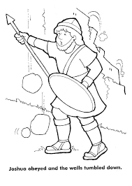 The Walls Of Jericho Crash Down Coloring Pages Children Praying