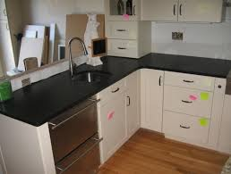 honed black granite countertop