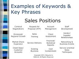 Keywords For Resume 21 Resume To Referral All Rights Reserved 6. Examples  Of Keywords