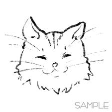 〇水墨画風〇愛猫さんのイラスト描きます Oo淡い墨汁で描いたようなゆるい猫イラストのご提供
