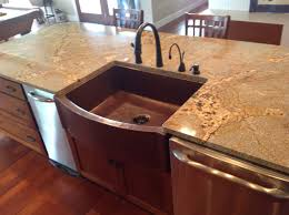 picture of 33 rounded front flat ends copper farmhouse sink